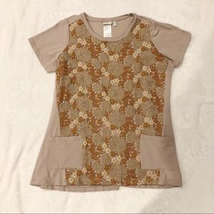 LOGO Lounge | Lace Short Sleeve Top Sz 2XL